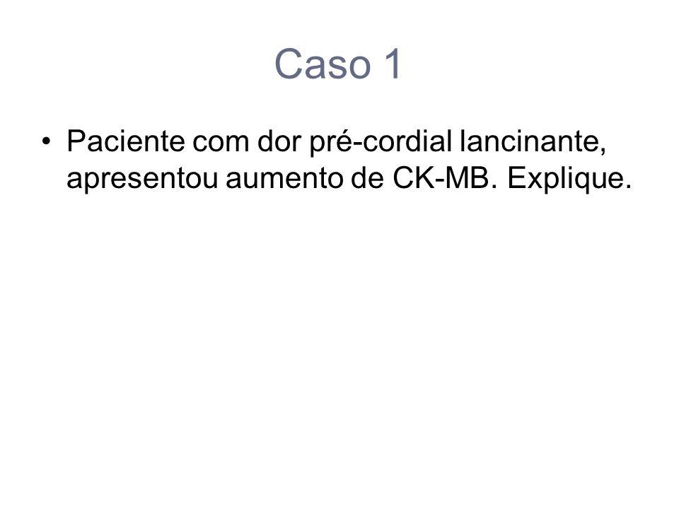 Caso 1 Paciente com dor pré-cordial lancinante, apresentou aumento de CK-MB. Explique.