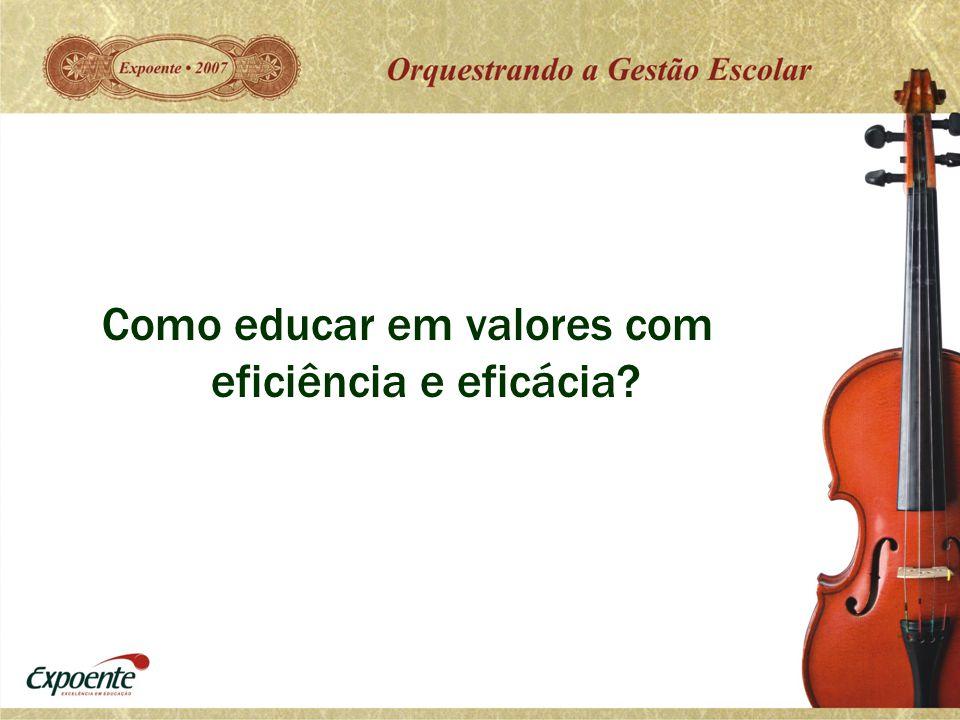 Como educar em valores com eficiência e eficácia?