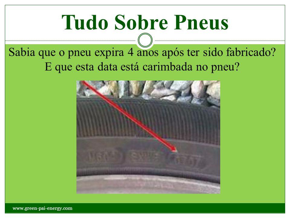 Tudo Sobre Pneus Sabia que o pneu expira 4 anos após ter sido fabricado? E que esta data está carimbada no pneu? www.green-pai-energy.com