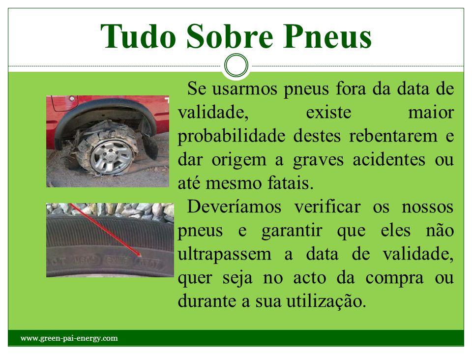 Tudo Sobre Pneus Se usarmos pneus fora da data de validade, existe maior probabilidade destes rebentarem e dar origem a graves acidentes ou até mesmo