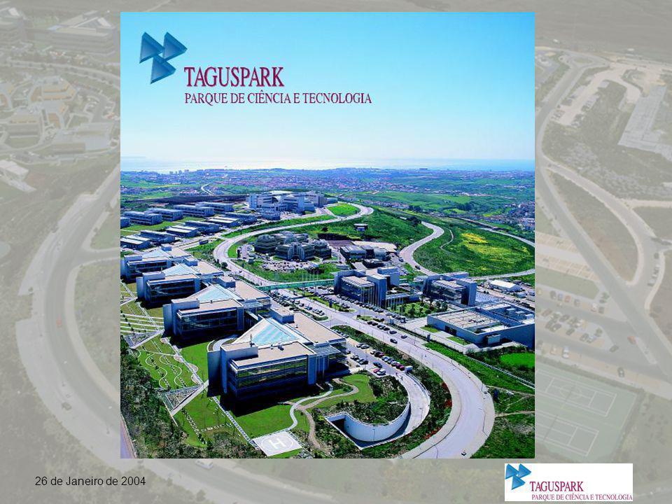 Plano Integrado do Parque de Ciência e Tecnologia Taguspark Oeiras Parque Cabanas Golfe Fábrica Pólvora Indústrias não poluentes Índice de implantação: 0,15 Índice de construção: 0,30 Número máximo de pisos: 3/4 Qualidade máxima Taguspark (expansão)