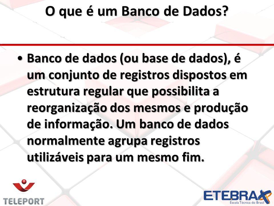 O que é um Banco de Dados.