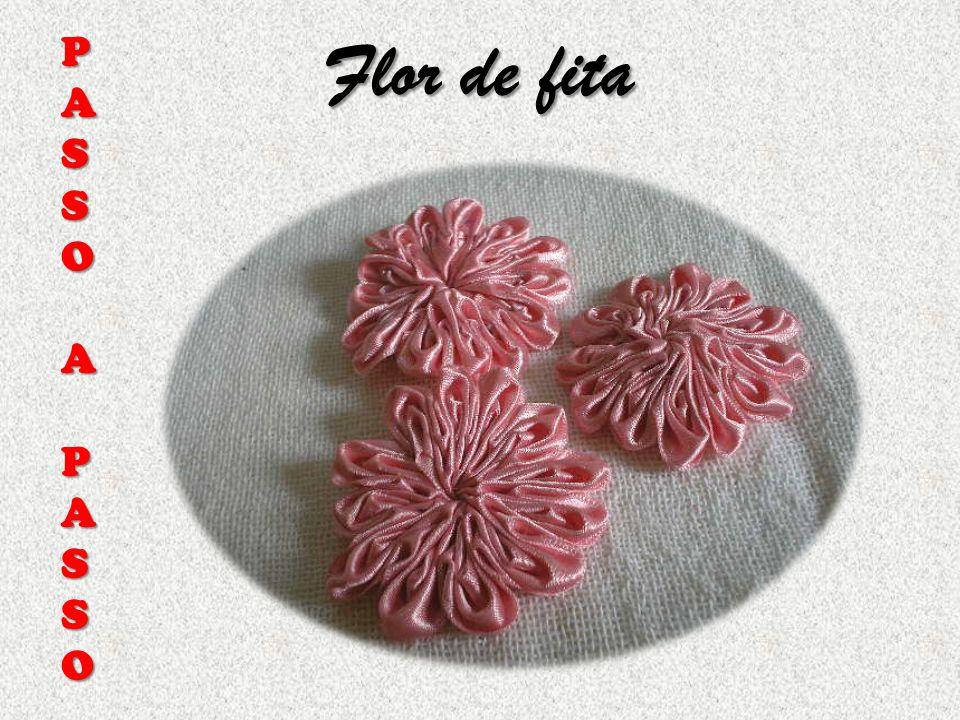 Flor de fita PASSOAPASSO