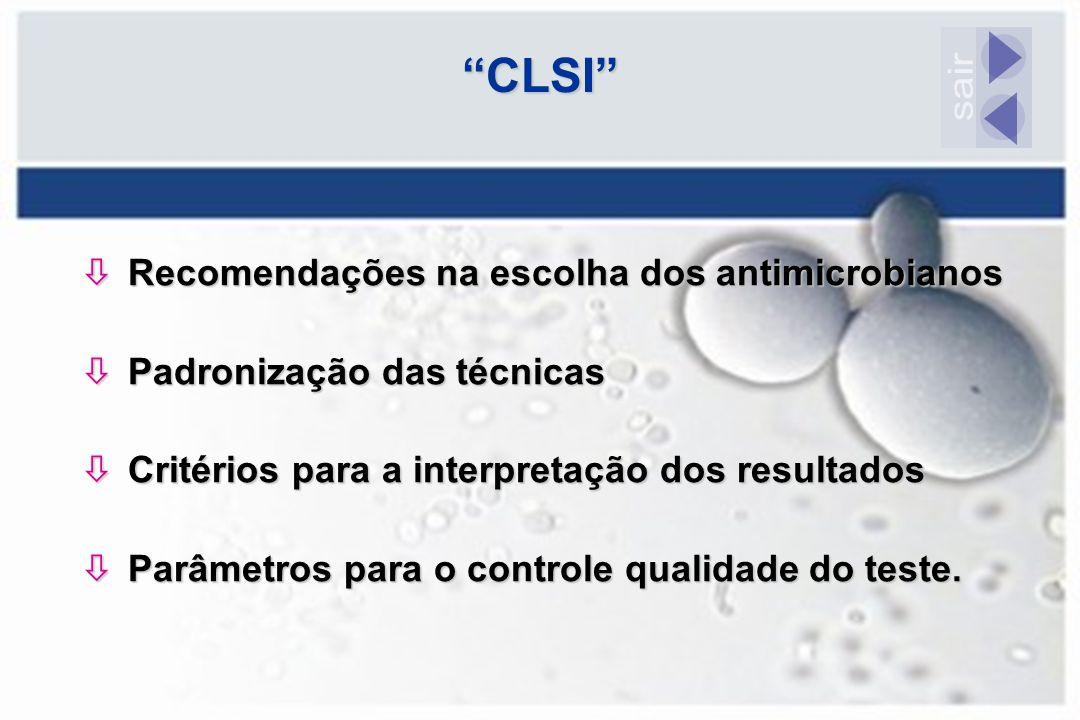 ò Recomendações na escolha dos antimicrobianos ò Padronização das técnicas ò Critérios para a interpretação dos resultados ò Parâmetros para o control