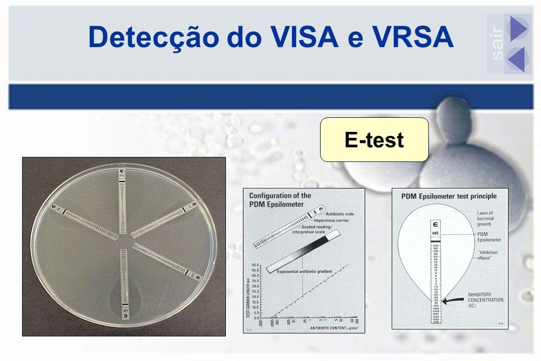 Detecção do VISA e VRSA E-test