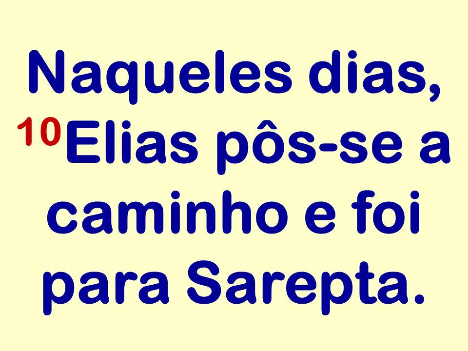 Naqueles dias, 10 Elias pôs-se a caminho e foi para Sarepta.