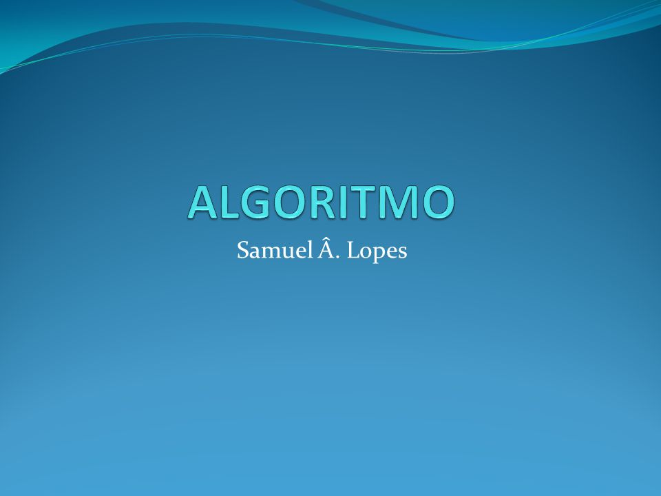 Samuel Â. Lopes