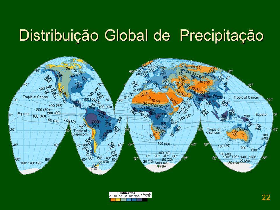 22 Distribuição Global de Precipitação