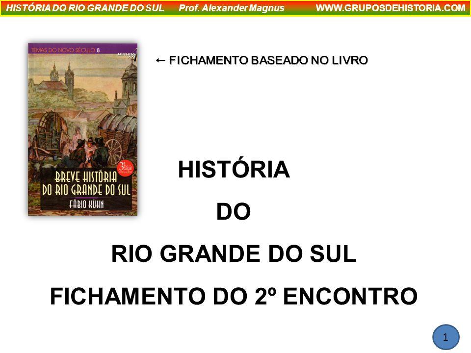 HISTÓRIA DO RIO GRANDE DO SUL FICHAMENTO DO 2º ENCONTRO HISTÓRIA DO RIO GRANDE DO SUL Prof.