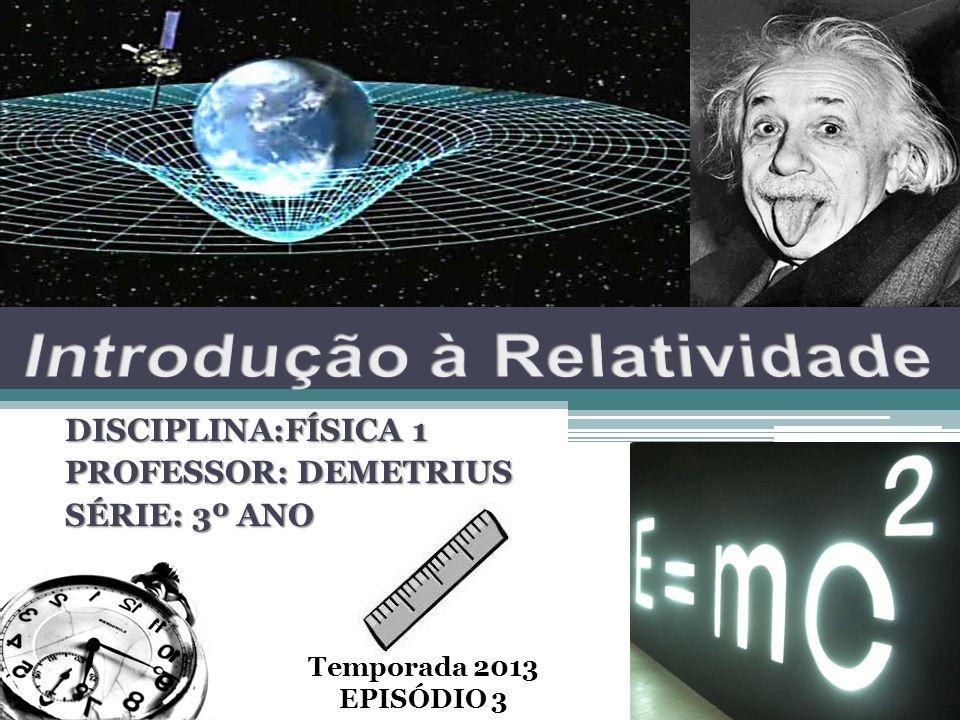 DISCIPLINA:FÍSICA 1 PROFESSOR: DEMETRIUS SÉRIE: 3º ANO Temporada 2013 EPISÓDIO 3