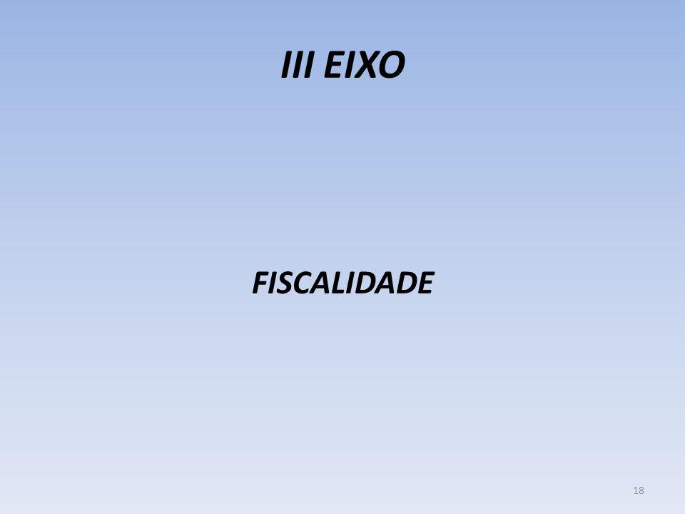 III EIXO FISCALIDADE 18