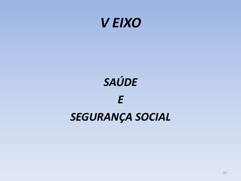 V EIXO SAÚDE E SEGURANÇA SOCIAL 30