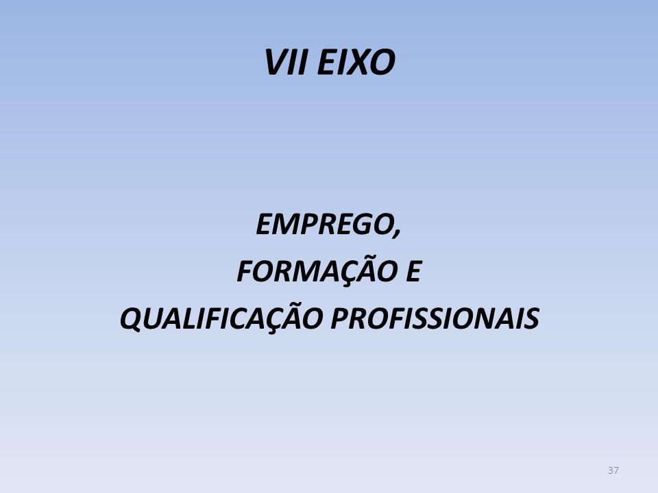 VII EIXO EMPREGO, FORMAÇÃO E QUALIFICAÇÃO PROFISSIONAIS 37