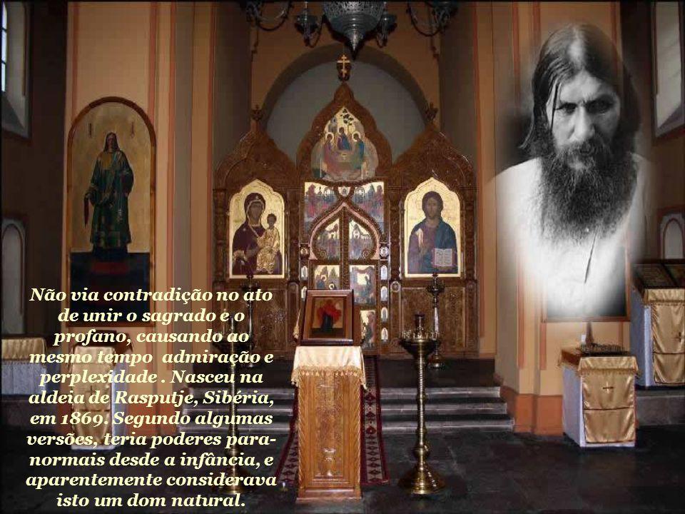 """O monge russo Rasputin era considerado """"semi-louco"""" e libertino por uns, uma benção para outros, e um mistério para todos. Sua vida está envolta em um"""