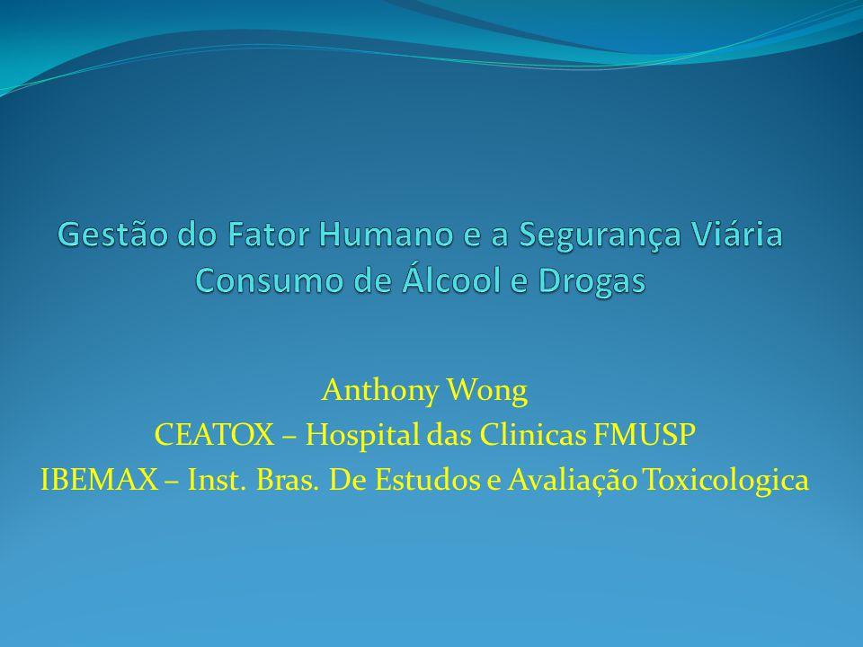 Anthony Wong CEATOX – Hospital das Clinicas FMUSP IBEMAX – Inst. Bras. De Estudos e Avaliação Toxicologica