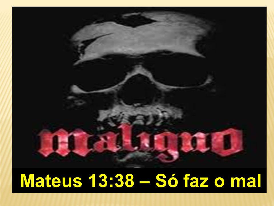 Mateus 13:38 – Só faz o mal Mateus 13:38 – Só faz o mal