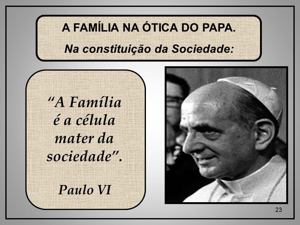 23 A FAMÍLIA NA ÓTICA DO PAPA.