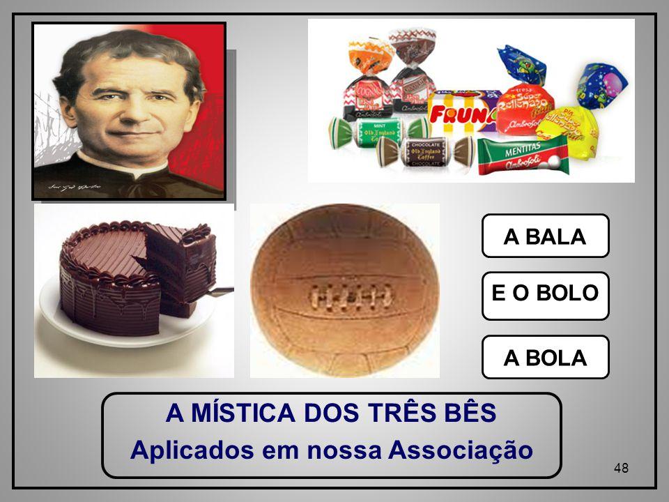 48 A MÍSTICA DOS TRÊS BÊS A BALA E O BOLO A BOLA Aplicados em nossa Associação