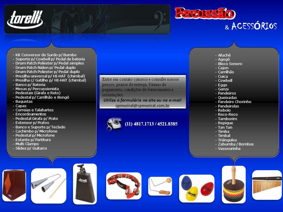 & ACESS Ó RIOS - Kit Conversor de Surdo p/ Bumbo - Suporte p/ Cowbell p/ Pedal de bateria - Drum Patch Poli é ster p/ Pedal simples - Drum Patch N á i