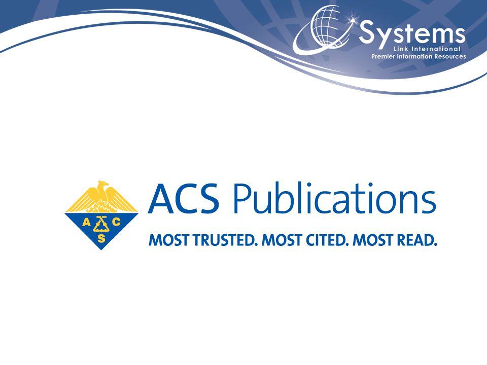 American Chemical Society Fundada em 1876, a American Chemical Society (ACS) é uma sociedade científica que conta com mais de 160.000 membros.