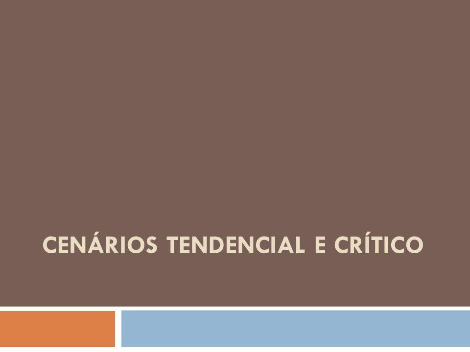 CENÁRIOS TENDENCIAL E CRÍTICO