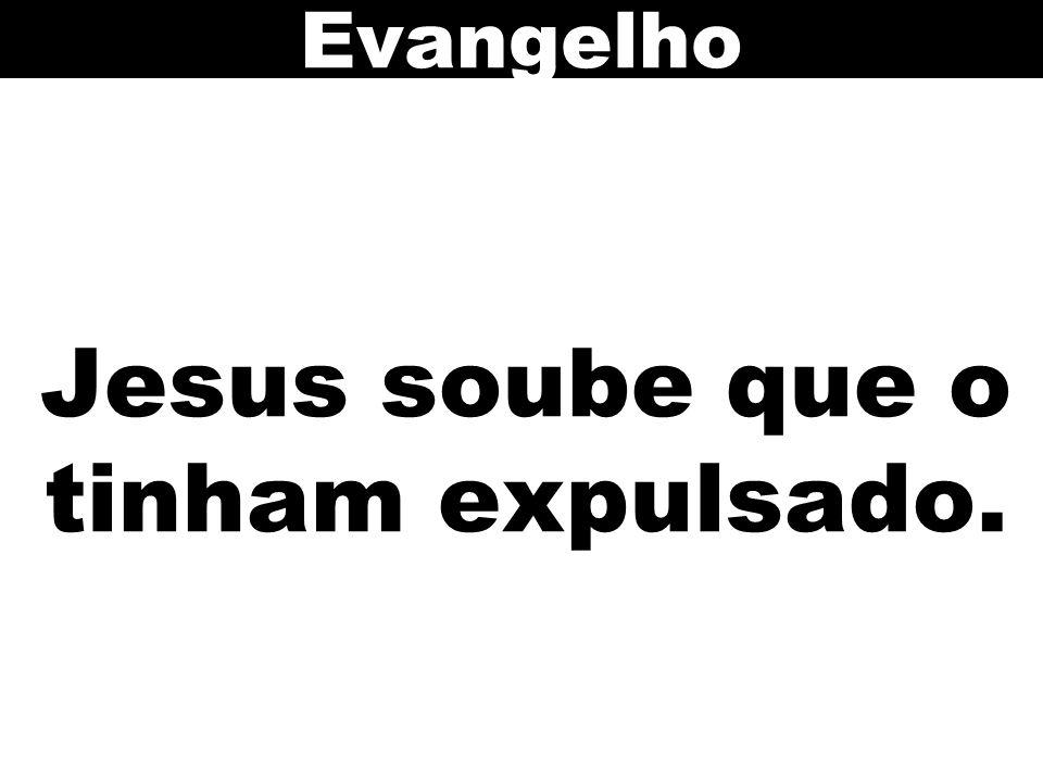 Jesus soube que o tinham expulsado. Evangelho