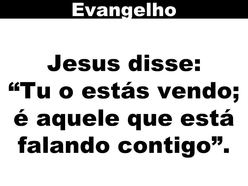 Jesus disse: Tu o estás vendo; é aquele que está falando contigo . Evangelho