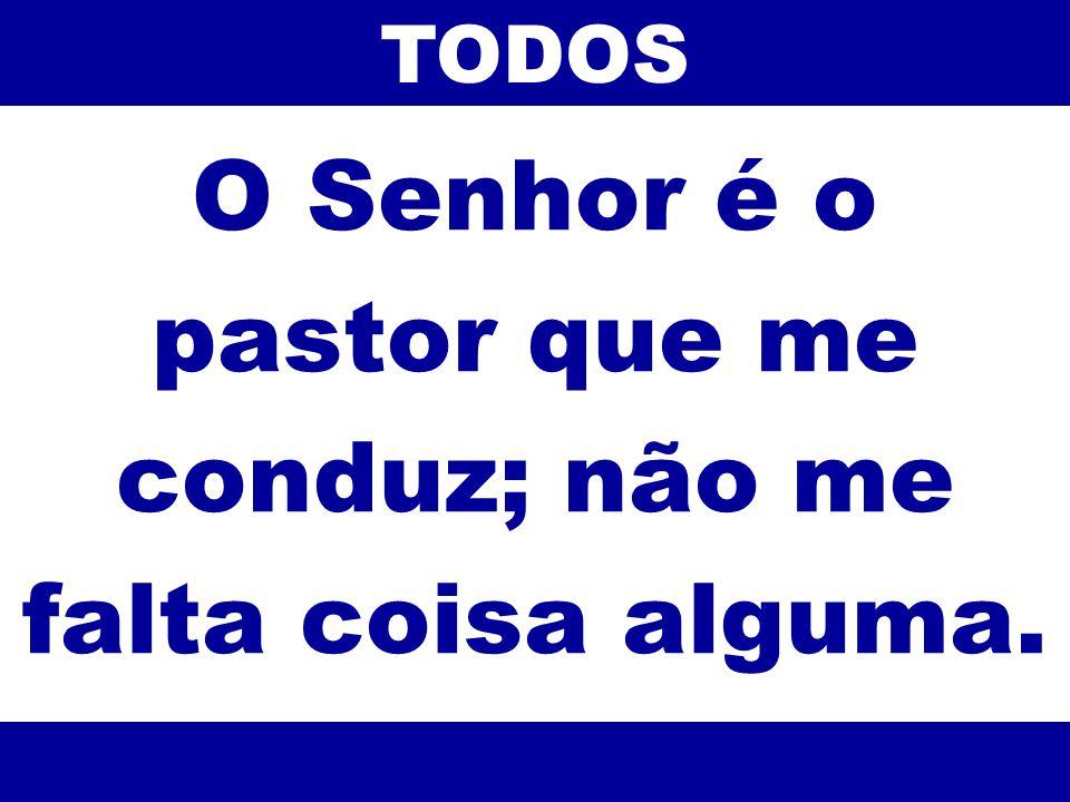 O Senhor é o pastor que me conduz; não me falta coisa alguma. TODOS