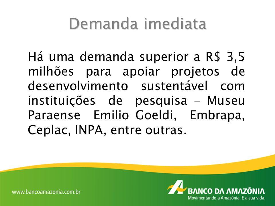 Há uma demanda superior a R$ 3,5 milhões para apoiar projetos de desenvolvimento sustentável com instituições de pesquisa - Museu Paraense Emilio Goel