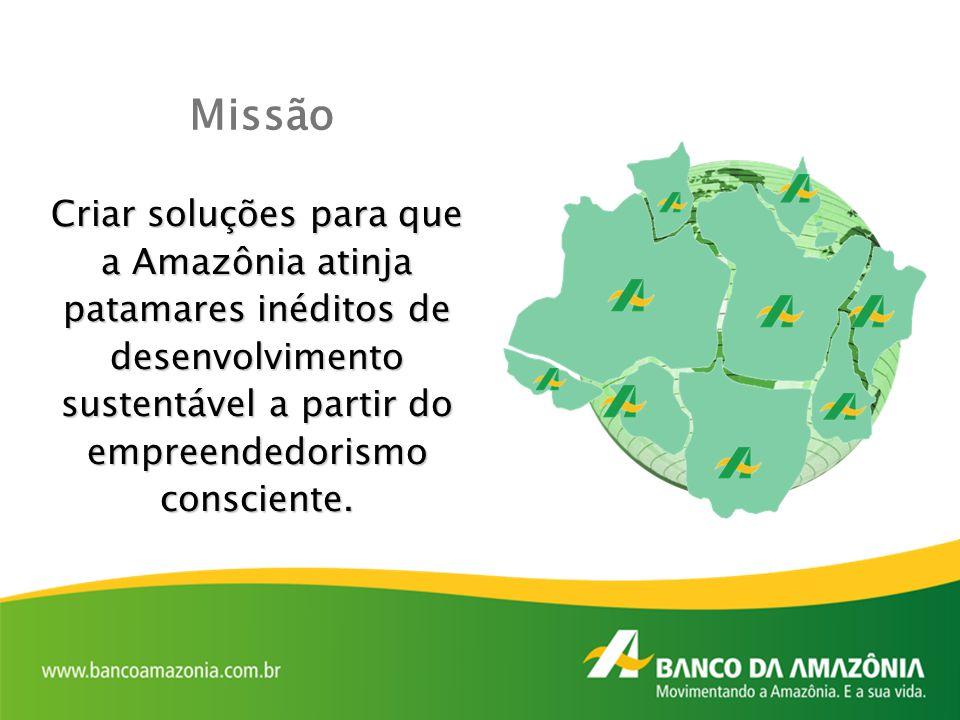 Criar soluções para que a Amazônia atinja patamares inéditos de desenvolvimento sustentável a partir do empreendedorismo consciente. Missão