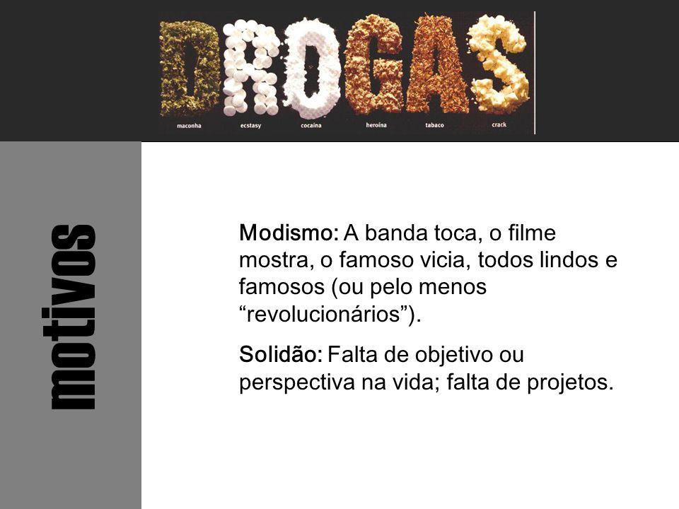 """Modismo: A banda toca, o filme mostra, o famoso vicia, todos lindos e famosos (ou pelo menos """"revolucionários""""). Solidão: Falta de objetivo ou perspec"""