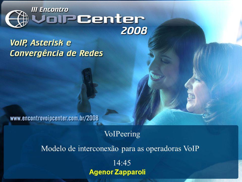 Agenor Zapparoli VoIPeering Modelo de interconexão para as operadoras VoIP 14:45
