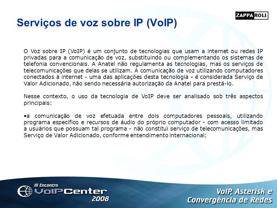 Serviços de voz sobre IP (VoIP) O Voz sobre IP (VoIP) é um conjunto de tecnologias que usam a internet ou redes IP privadas para a comunicação de voz,
