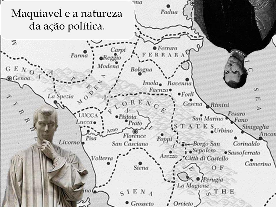 Situando brevemente o autor Maquiavel segue o movimento intelectual que visava a separação da política do domínio religioso.