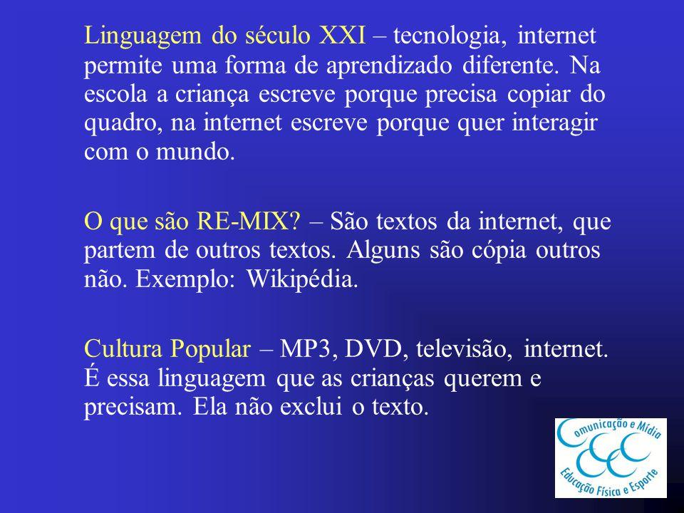 As linguagens, hoje, se tornaram multimodais.Um texto que já tem várias coisas inclusas.