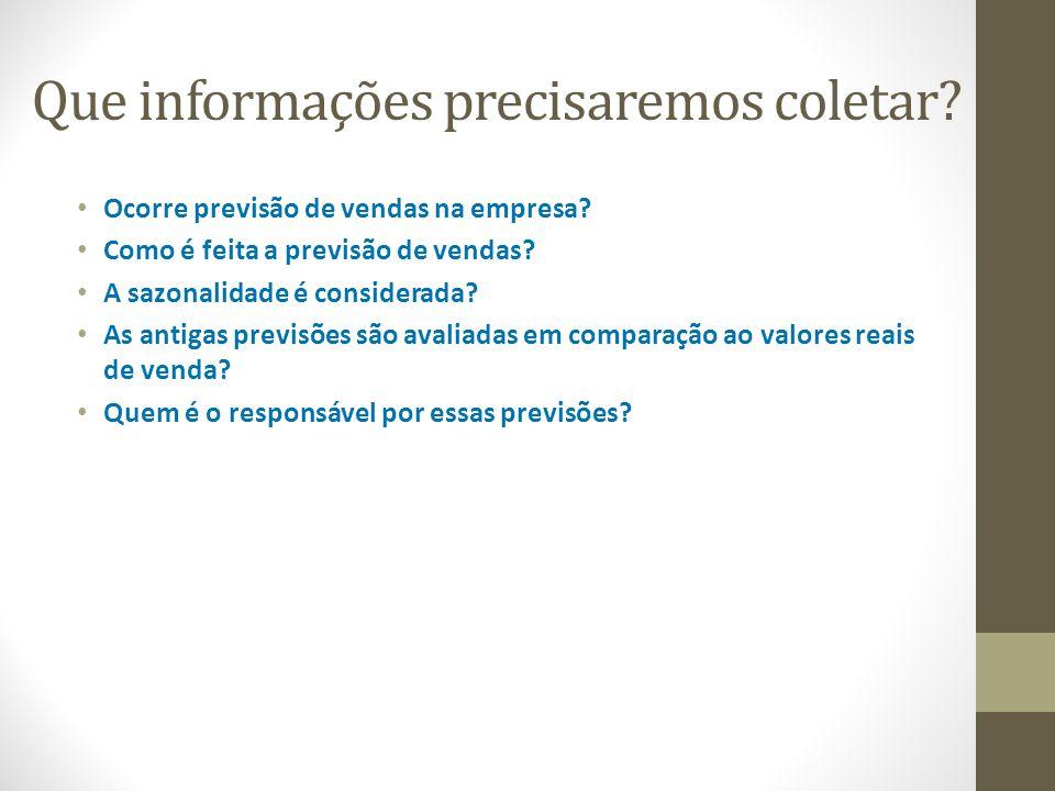 Resultados do trabalho 1.Sugestões de mudança na forma de previsão de vendas 2.Validação do método utilizado.