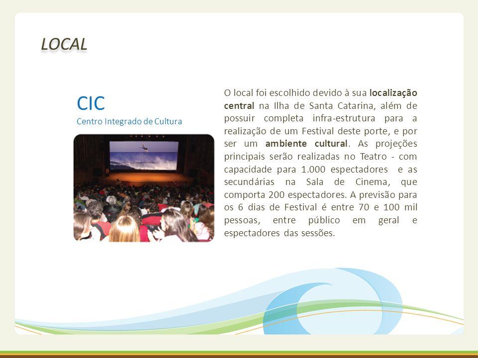 CIC Centro Integrado de Cultura O local foi escolhido devido à sua localização central na Ilha de Santa Catarina, além de possuir completa infra-estru