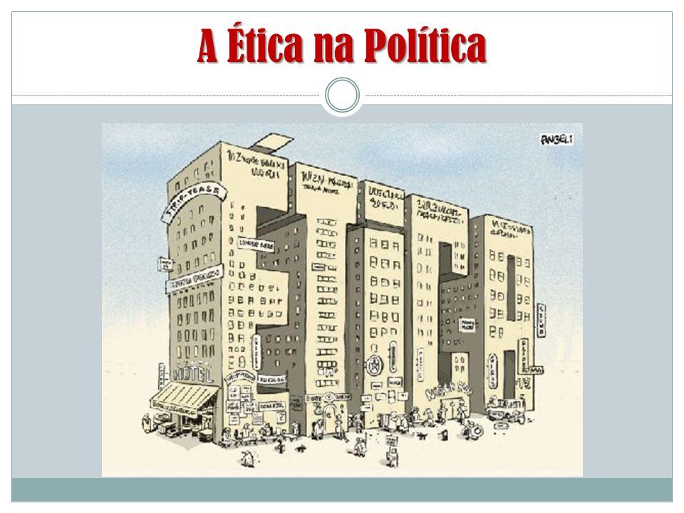 A Ética na Política Ética  Política Aristóteles entendia a Ética e a Política como irmãs siamesas: uma ligada a outra.