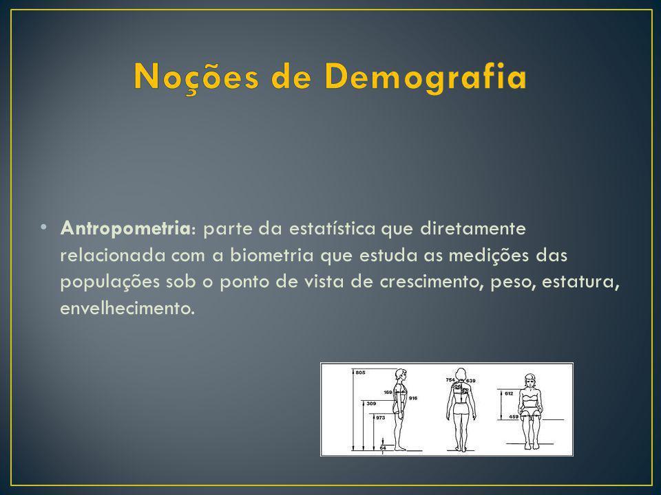 Biometria: parte da estatística de grande importância para a ciência atuarial no estudo de pessoas, a qual efetua grupamento e análise de dados sobre