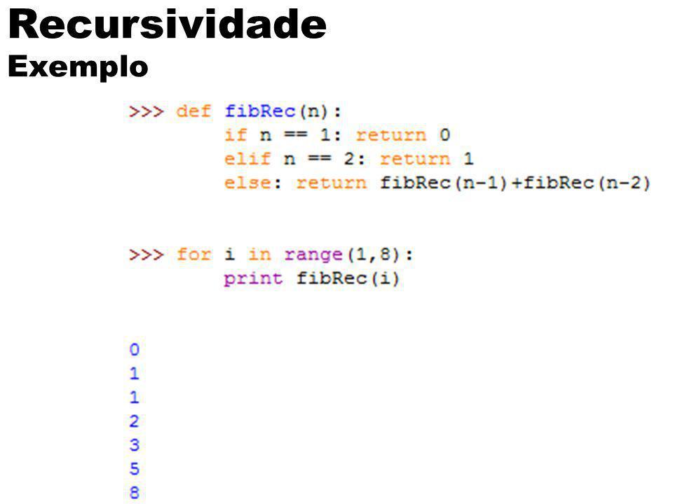 Recursividade Exemplo 13
