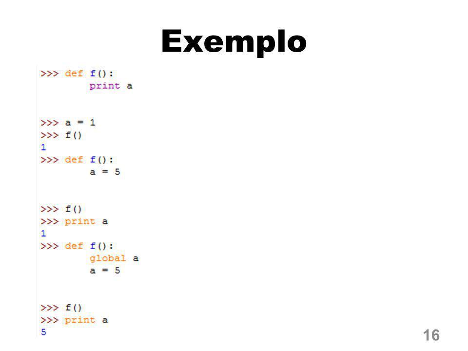 Exemplo 16