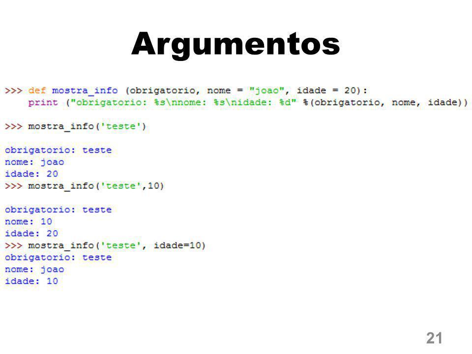 Argumentos 21