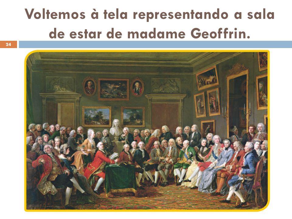 Voltemos à tela representando a sala de estar de madame Geoffrin. 24