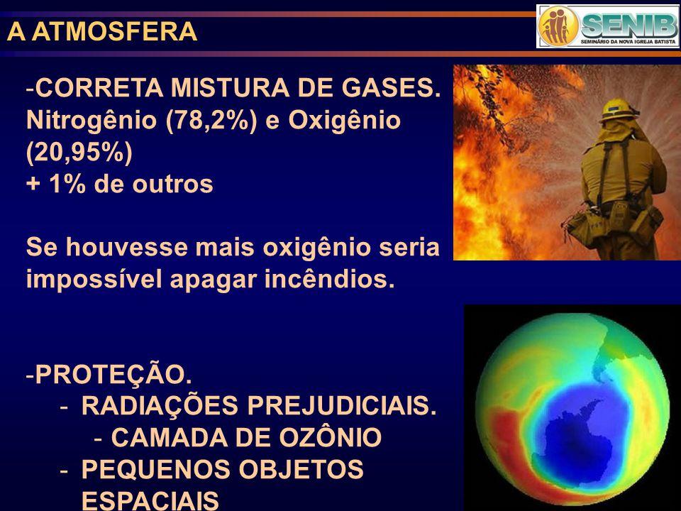 A ATMOSFERA -CORRETA MISTURA DE GASES.