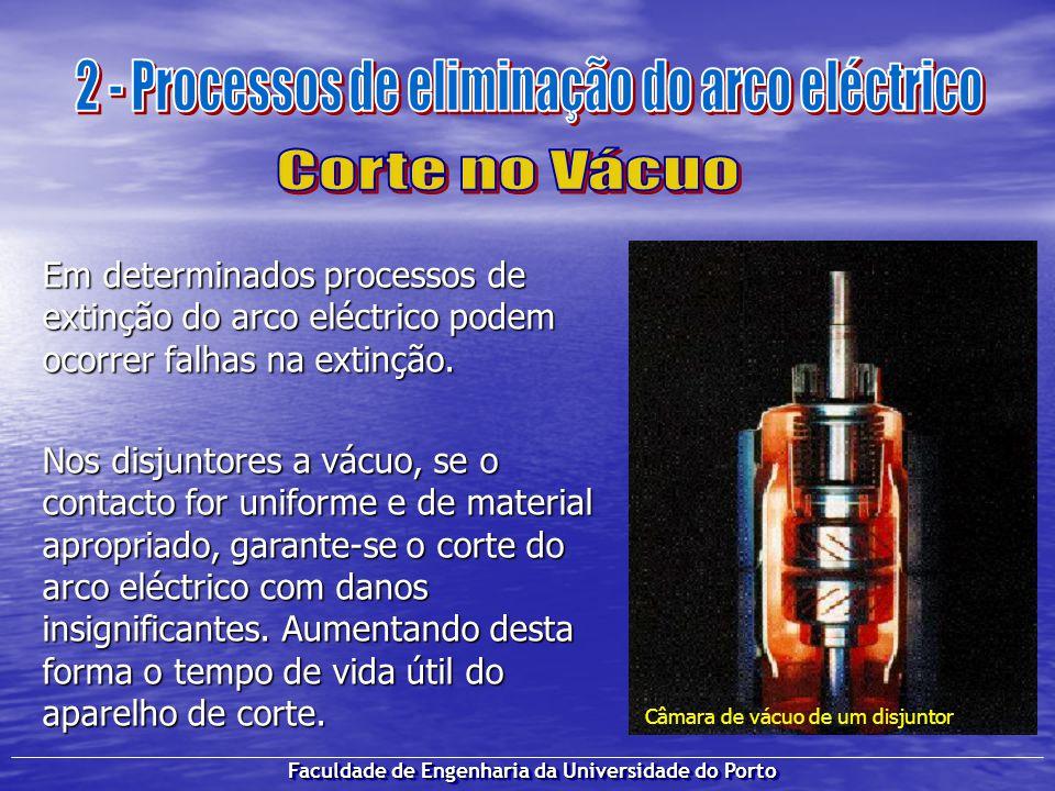Faculdade de Engenharia da Universidade do Porto Em determinados processos de extinção do arco eléctrico podem ocorrer falhas na extinção. Nos disjunt