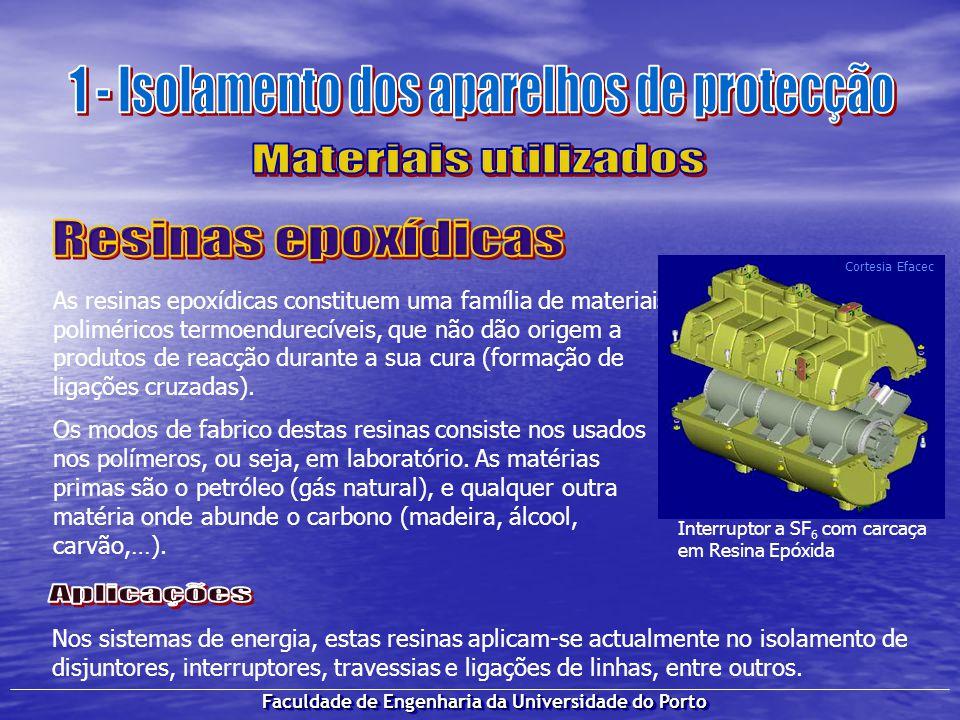 Faculdade de Engenharia da Universidade do Porto Dependendo dos valores da tensão no transporte e distribuição da energia eléctrica, existem diferentes disjuntores.