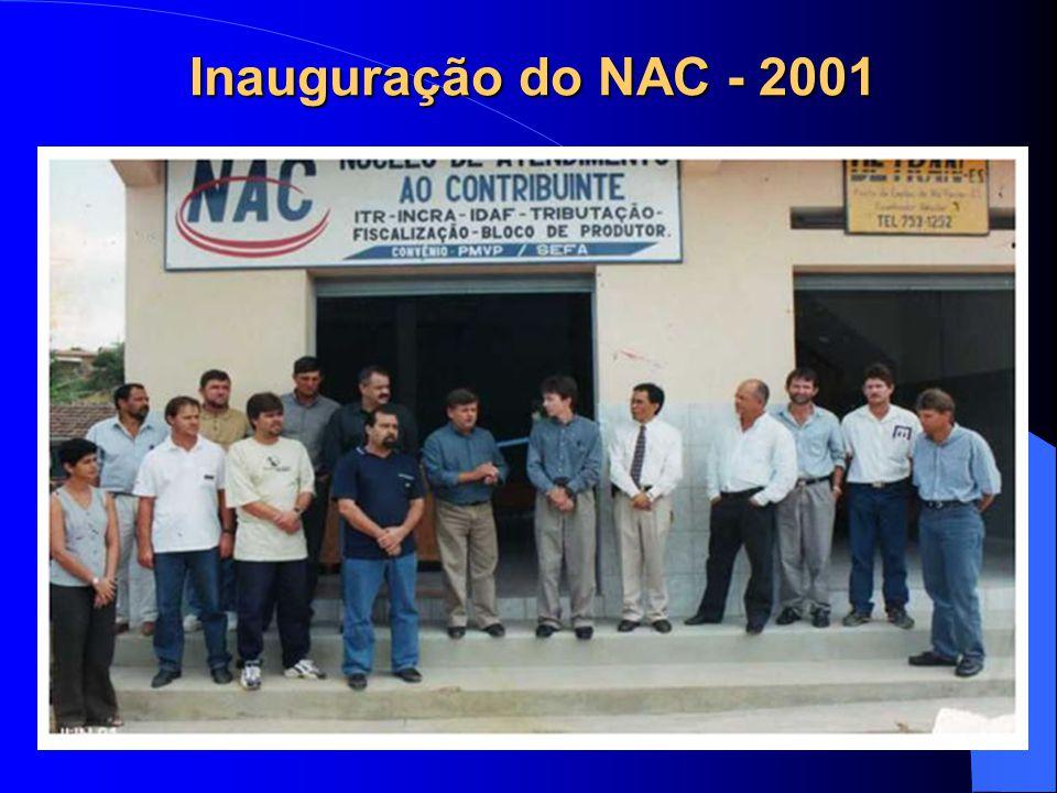 Inauguração do NAC - 2001