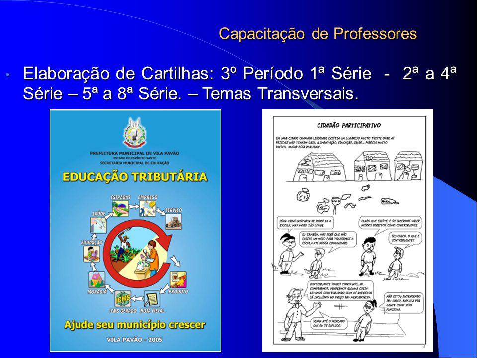 Capacitação de Professores Elaboração de Cartilhas: 3º Período 1ª Série - 2ª a 4ª Série – 5ª a 8ª Série.