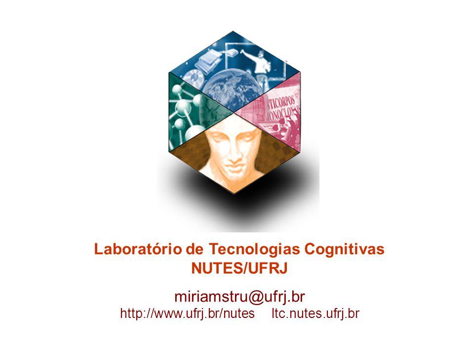 Laboratório de Tecnologias Cognitivas NUTES/UFRJ miriamstru@ufrj.br http://www.ufrj.br/nutes ltc.nutes.ufrj.br