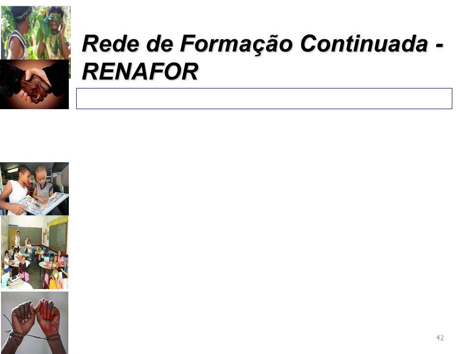 42 Rede de Formação Continuada - RENAFOR